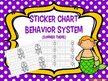 Sticker Chart Summer Theme