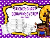 Sticker Chart Fall Theme