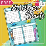 FREE Sticker Charts for Speech Therapy: 8 Monster-Theme Designs