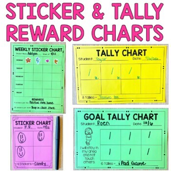 Sticker Charts: Blank and Goal Sticker Charts {Editable}