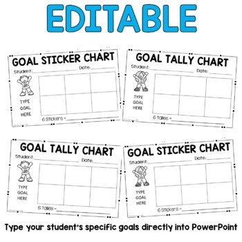 Sticker and Tally Charts: Blank and Goal Sticker Charts {Editable}