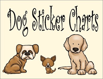 Sticker Charts - Dogs