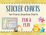 Sticker Charts: Fun & Play Themed Ten-Frame Incentive Charts