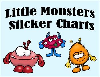Sticker Charts - Little Monsters