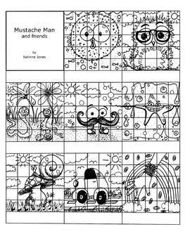Sticker Charts - Mustache Man & Friends - Behavior Managem