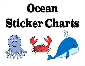 Sticker Charts - Ocean