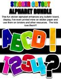 Sticker Cutout Alphabet Bundle