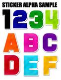 Sticker Cutout Alphabet PNGs Bundle