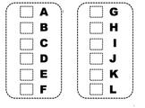 Sticker Flip Book for Letter Recognition