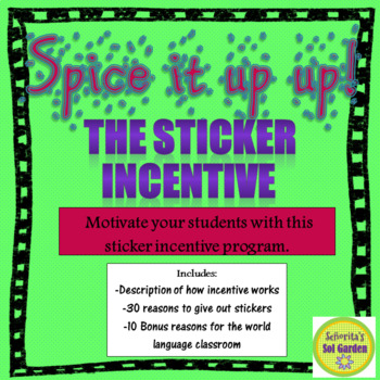 Sticker Incentive - Motivate your high school students with stickers