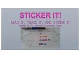 Sticker It Pre-Primer Sight Word Activity