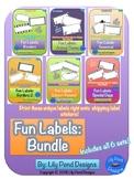 Sticker Label Templates - 6 Set Bundle!