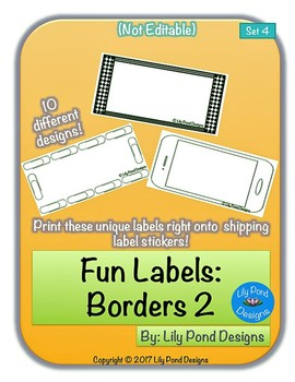 Sticker Label Templates - Fun Labels (Set 4): Borders 2