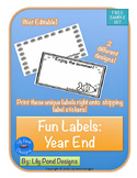 Sticker Label Templates - Summer and Year End (FREE!!)