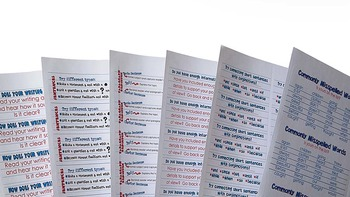 Writing Feedback Stickers! Printable; Use standard Labels
