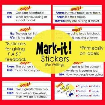 Stickers for Writing Assessment: Print on Standard Labels