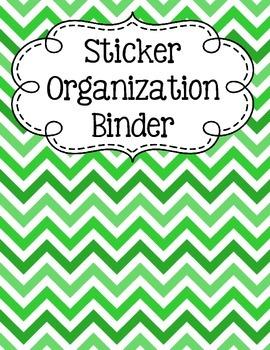Sticker Organization Binder