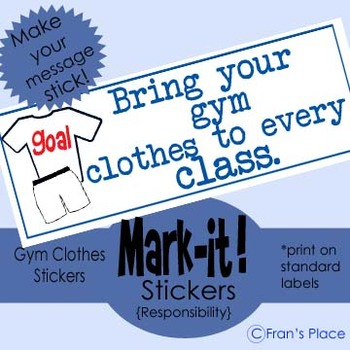 Classroom Management: Gym reminder