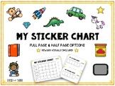 Sticker Reward Chart
