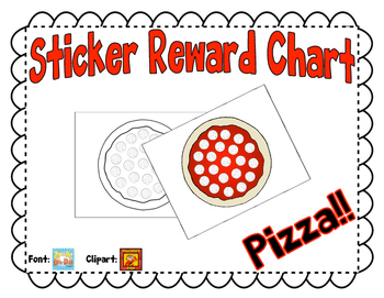 Sticker Reward Chart - Pizza!!