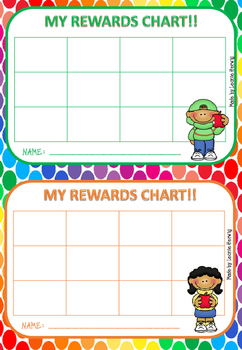 Sticker reward charts free by learning with leonie tpt