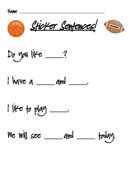 Sticker Sentences Station