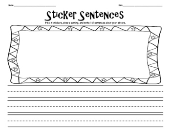 Sticker Sentences and Stories