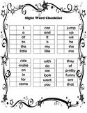 Sticker Sight Word Checklist