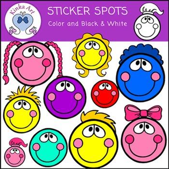 Sticker Spots Clip Art