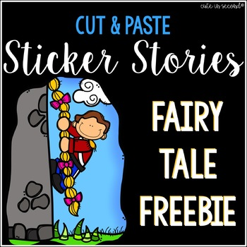 Sticker Story Cut and Paste Freebie NO PREP
