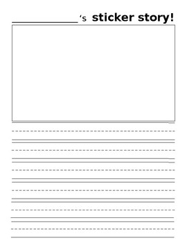 Sticker Story Paper Template