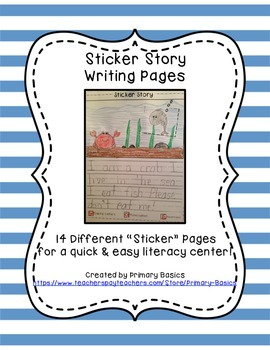 Sticker Story Writing Pages