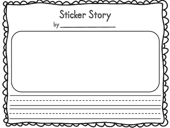 Sticker Story Writing Sheet