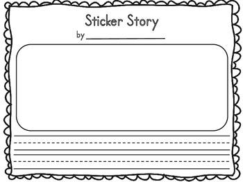 Sticker Story Writing Sheet