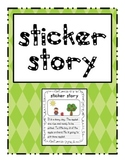Sticker Story Writing center