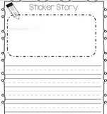 Sticker Story writing paper