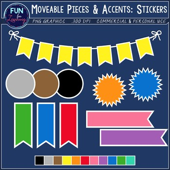 Moveable Pieces & Accents {Sticker Style Edition}