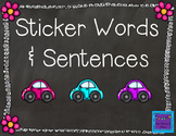 Sticker Words & Sentences