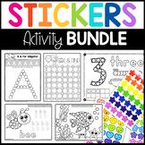 Sticker Worksheet Bundle: Fine Motor Activity Pages