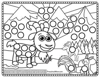 Sticker Worksheets: Animal Habitats with Fine Motor Skills