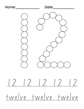 Sticker and Writing Numbers - Fine Motor, Number Skills, Autism, SEN