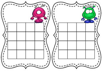 Sticker charts- monster themed