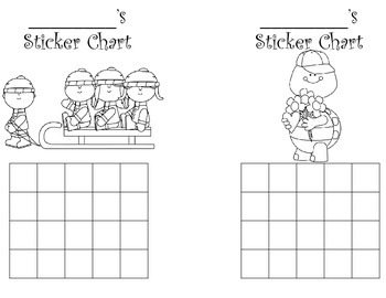 Sticker charts-monthly themed (12)