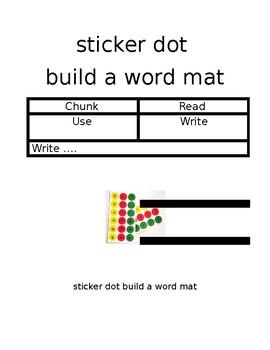Sticker dot word builder mat