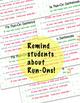 Sticker for Writing!  Run on Sentences