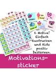 Sticker zur Motivation, Belohnungssticker, German motivational stickers