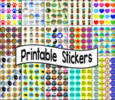 Stickers - 60 Printable Sticker Templates