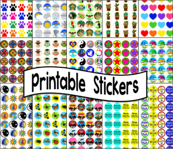 picture relating to Printable Sticker titled Stickers - 60 Printable Sticker Templates