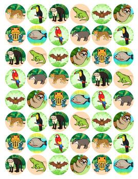 Stickers - 60 Printable Sticker Templates