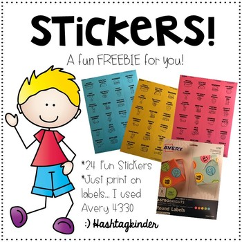 Stickers!  A Freebie for YOU!